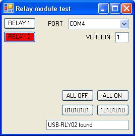 Usb-rly02 USB-relés