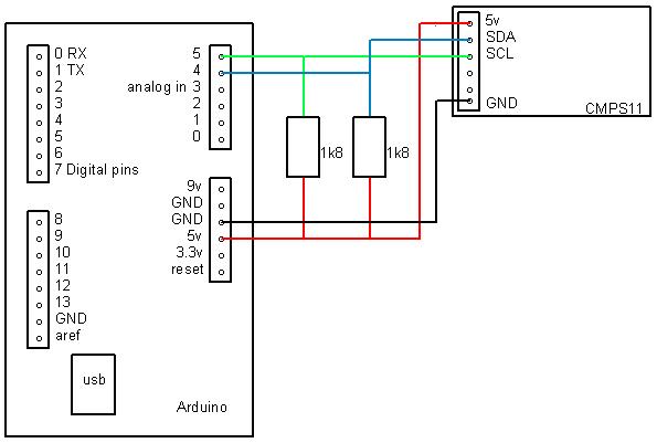 pembacaan sudut dengan cmps11 dan arduino  u2013 abu dawud