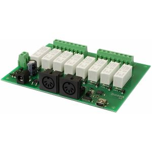 MIDI-RLY08 - 8 relay, 0 dimmer