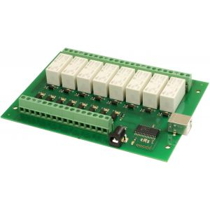 USB-OPTO-RLY816 - 8 optically isolated inputs, 8 x 16A relays