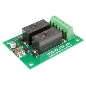 USB-RLY02-SN - 2 x 16A USB relay